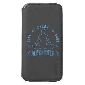 Capa Carteira Incipio Watson™ Para iPhone 6 O amor vivo do riso Meditate o texto masculino (o