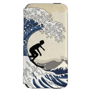 Capa Carteira Incipio Watson™ Para iPhone 6 O grande surfista de Kanagawa