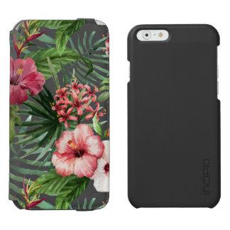 Capa Carteira Incipio Watson™ Para iPhone 6 O hibiscus tropical floresce o teste padrão da
