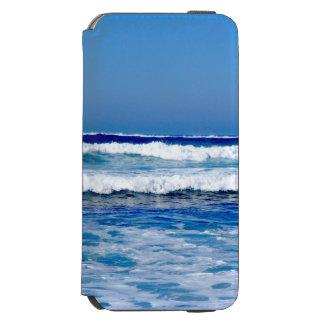 Capa Carteira Incipio Watson™ Para iPhone 6 Oceano Atlântico azul profundo acena na praia