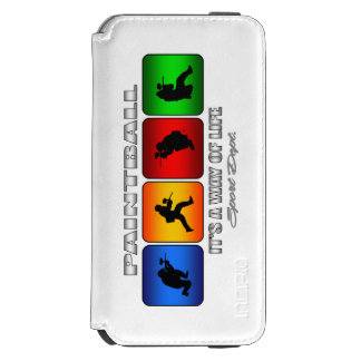 Capa Carteira Incipio Watson™ Para iPhone 6 Paintball legal é um modo de vida
