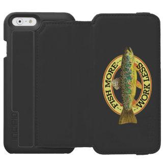 Capa Carteira Incipio Watson™ Para iPhone 6 Palavras engraçadas da pesca para um pescador