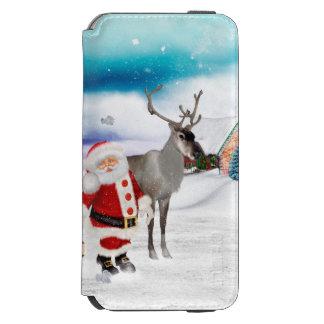Capa Carteira Incipio Watson™ Para iPhone 6 Papai Noel engraçado