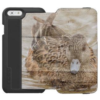 Capa Carteira Incipio Watson™ Para iPhone 6 Pato selvagem da lagoa do woodgrain da casa do