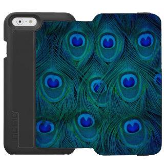 Capa Carteira Incipio Watson™ Para iPhone 6 Pena parisiense do pavão do verde da cerceta do