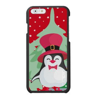 Capa Carteira Incipio Watson™ Para iPhone 6 Pinguim festivo com trenó