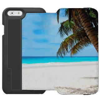 Capa Carteira Incipio Watson™ Para iPhone 6 Praia tropical, água de turquesa