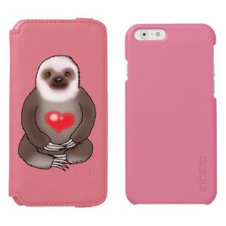 Capa Carteira Incipio Watson™ Para iPhone 6 preguiça bonito com coração vermelho