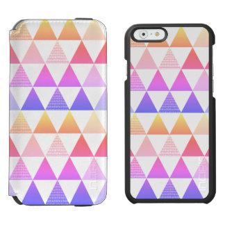 Capa Carteira Incipio Watson™ Para iPhone 6 Prisma tribal do arco-íris da seta geométrico