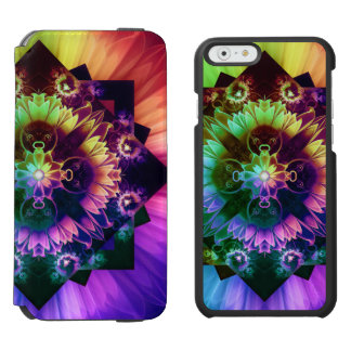 Capa Carteira Incipio Watson™ Para iPhone 6 Respiradouros do DES de Fleur, flor do Fractal do