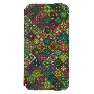 Capa Carteira Incipio Watson™ Para iPhone 6 Retalhos do vintage com elementos florais da