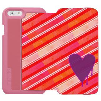 Capa Carteira Incipio Watson™ Para iPhone 6 Roxo de derretimento do coração