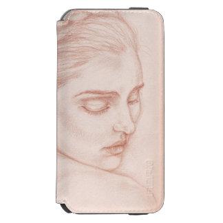 Capa Carteira Incipio Watson™ Para iPhone 6 Senhora Retrato Desenho do Victorian