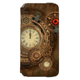 Capa Carteira Incipio Watson™ Para iPhone 6 Steampunk, maquinismo de relojoaria maravilhoso
