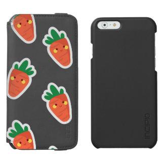 Capa Carteira Incipio Watson™ Para iPhone 6 Teste padrão bonito lunático do vegetal do chibi