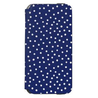Capa Carteira Incipio Watson™ Para iPhone 6 Teste padrão de pontos dos confetes dos azuis