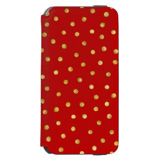 Capa Carteira Incipio Watson™ Para iPhone 6 Teste padrão de pontos elegante dos confetes da