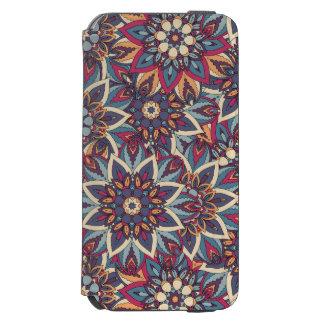 Capa Carteira Incipio Watson™ Para iPhone 6 Teste padrão floral étnico abstrato colorido da