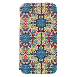 Capa Carteira Incipio Watson™ Para iPhone 6 Teste padrão floral étnico abstrato colorido de da