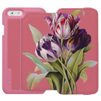 Capa Carteira Incipio Watson™ Para iPhone 6 Trio das tulipas