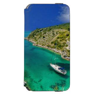 Capa Carteira Incipio Watson™ Para iPhone 6 Veleiro no oceano do verde esmeralda