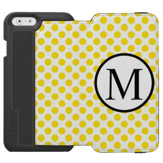 Capa Carteira Incipio Watson™ Para iPhone 6 YellowPolkaDots