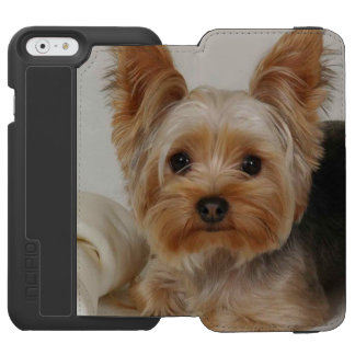 Capa Carteira Incipio Watson™ Para iPhone 6 Yorkshire terrier lindo