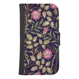 Capa Carteira Para Galaxy S4 Arte floral Nouveau do Briar doce de William