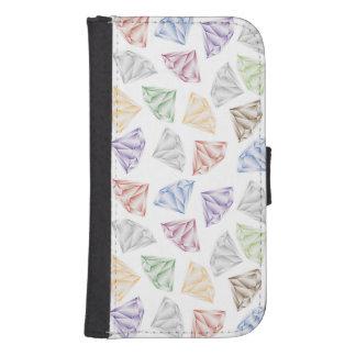 Capa Carteira Para Galaxy S4 Diamantes coloridos para meu querido