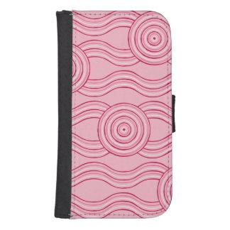 Capa Carteira Para Galaxy S4 Flores aborígenes do gumnut da arte