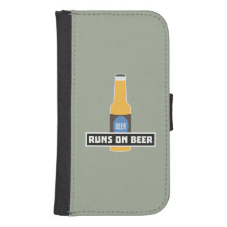 Capa Carteira Para Galaxy S4 Funcionamentos na cerveja Z7ta2