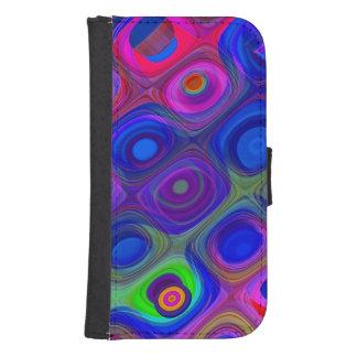 Capa Carteira Para Galaxy S4 Funky roxo azul