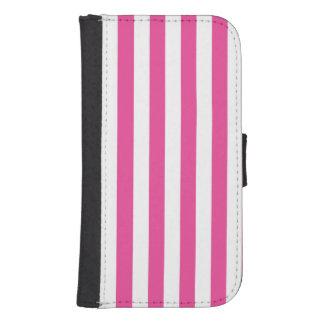 Capa Carteira Para Galaxy S4 Listras verticais cor-de-rosa
