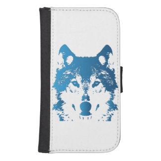 Capa Carteira Para Galaxy S4 Lobo do azul de gelo da ilustração