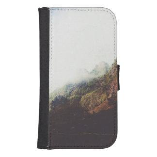 Capa Carteira Para Galaxy S4 Montanhas enevoadas, cena de relaxamento da