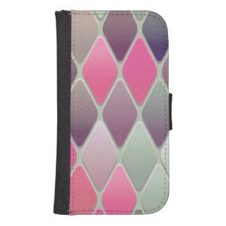 Capa Carteira Para Galaxy S4 Mosaico cor-de-rosa do diamante