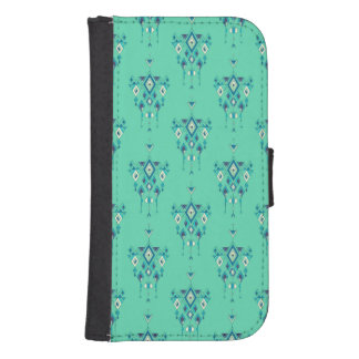 Capa Carteira Para Galaxy S4 Ornamento asteca tribal étnico do vintage