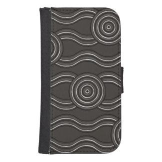 Capa Carteira Para Galaxy S4 Tempestade aborígene da arte