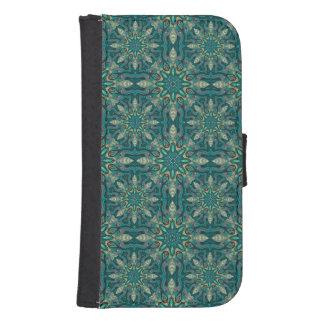 Capa Carteira Para Galaxy S4 Teste padrão floral étnico abstrato colorido de da