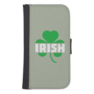 Capa Carteira Para Galaxy S4 Trevo irlandês Z2n9r do cloverleaf