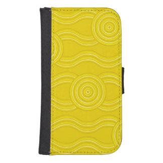 Capa Carteira Para Galaxy S4 Wattle aborígene da arte
