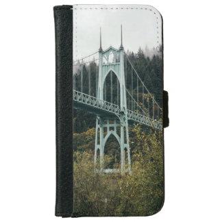 Capa Carteira Para iPhone 6/6s A ponte de St John em Portland