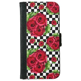 Capa Carteira Para iPhone 6/6s Amor floral do buquê das rosas vermelhas