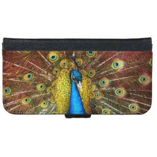 Capa Carteira Para iPhone 6/6s Animal - pássaro - pavão orgulhoso
