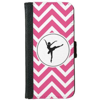 Capa Carteira Para iPhone 6/6s Bailarina branca cor-de-rosa do En Pointe de
