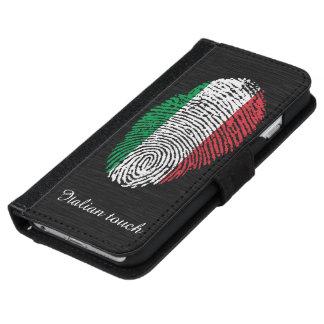 Capa Carteira Para iPhone 6/6s Bandeira italiana da impressão digital do toque