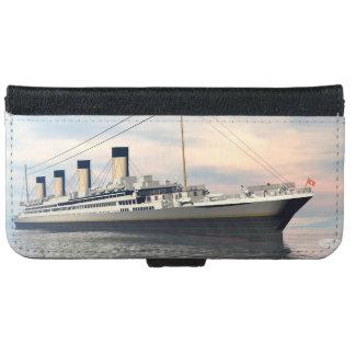 Capa Carteira Para iPhone 6/6s boat_titanic_close_water_waves_sunset_pink_standar