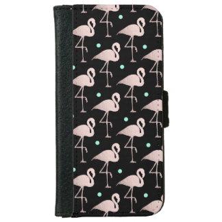 Capa Carteira Para iPhone 6/6s bolinhas cor-de-rosa da hortelã dos flamingos do