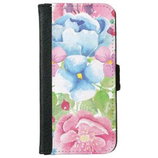 Capa Carteira Para iPhone 6/6s Buquê floral da aguarela bonito