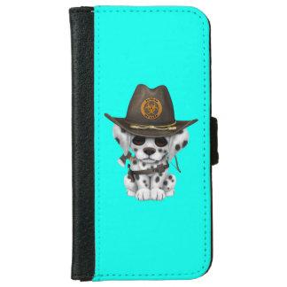 Capa Carteira Para iPhone 6/6s Caçador Dalmatian bonito do zombi do filhote de